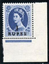 Omán 1961 QEII 1r en 1s 6d Gris-Azul MLH. SG 91. SC 91.