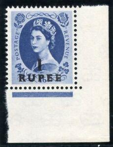 Oman 1961 QEII 1r on 1s 6d grey-blue MLH. SG 91. Sc 91.