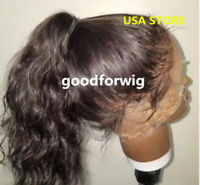 Pre Plucked Brazilian 100 Human Hair Full Wig  Lace Front Wigs body wave