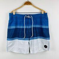 Rip Curl Mens Boardshorts Size 36 Swim Shorts Blue White Aussie Surfwear