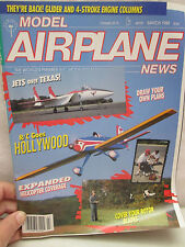 Model Airplane News Magazine March 1988 Draw Your Own Plans - 4 Stroke Engine