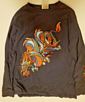 Vintage 90s JNCO Jeans Long Sleeve Dragon Shirt Large