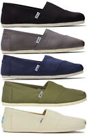 TOMS Mens Classic Canvas Slip On Shoes Black/Cream/Blue/Green/Grey New