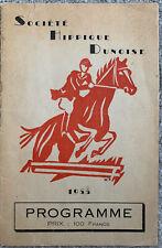 More details for societe hippique dunoise 1955 show jumping programme