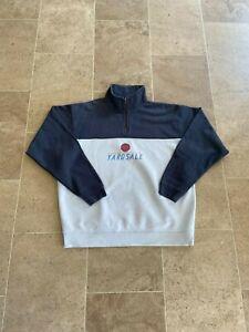 Yardsale quarter zip sweatshirt. Large. Navy and white. RRP £65