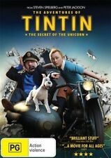 THE ADVENTURES OF TINTIN: The Secret of the Unicorn DVD Steven Spielberg NEW R4>