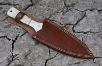 Double Stitch HandMade Pure Leather Sheath For Dagger Boot & Chris Blade Knife