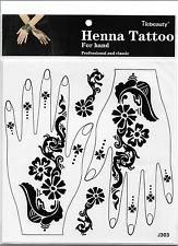 Lace transfer NEW Black henna Hand Arm Tattoo Sticker Henna Art Temporary Tattoo
