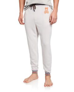 Psycho Bunny Men's Light Pewter Gray Plush Sweater Knit Jogger Pants