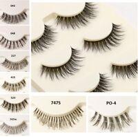 5 Pairs Fake Eyelashes False Long Thick Natural Eye Lashes Set Mink Makeup UK