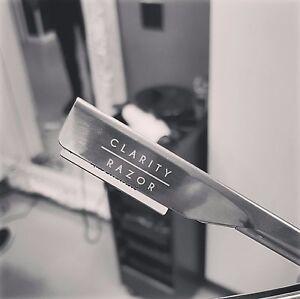 Exposed Razor Holder by Clarity Razor - Cut Throat Shaving Straight Razor Blade