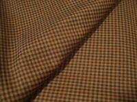 """3 yds Reda WOOL Luxury FABRIC Super 140s SUITING 8 oz Cocoa Brown Check 108"""" BTP"""