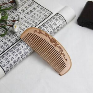 Natural peach wood anti static detangling head massage wooden comb