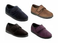 MENS PADDERS SOFT MICROSUEDE STRAP WIDE G FIT SLIPPERS SHOES SIZE 6-13 CHARLES
