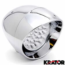 """7"""" LED Motorcycle Chrome Headlight White Light For Harley Davidson Chopper Bikes"""