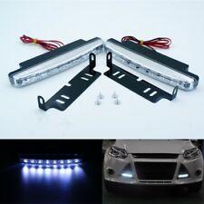 2x 8 LED Car Light DRL Fog Driving Daylight Daytime Running LED White Head Lamp