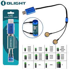 Olight UC Universal Akku Ladegerät über USB Magnet-Ladeadapter für NiMH Li-ion