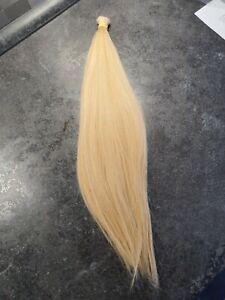 Schnitthaar Russisches Echthaar Zopf Haarverlängerung 69gr. 46cm hellblond mix