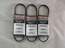 New Lot Of 3 Bando Serpentine Belt, Industry Number 250K3 (D1T)