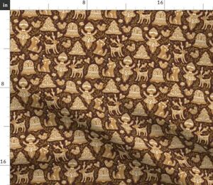 Gingerbread Cookies Christmas Tradition Holiday Spoonflower Fabric by the Yard