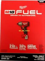 """NEW IN BOX Milwaukee 18V 2754-20 FUEL 3/8"""" Brushless Impact Wrench M18 Cordless"""