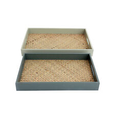 Set of 2 Eucalyptus Trays with Handles