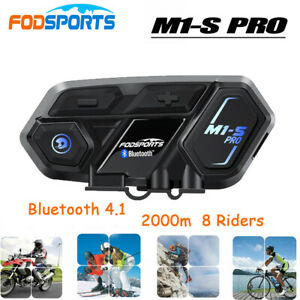 Fodsports M1-S Pro Motorcycle Bluetooth Helmet Intercom Headset 2000M 8 Riders