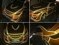 45M DIY Decorative Safety Reflective Warning Roll Strip Tape Car Truck Yellow AU
