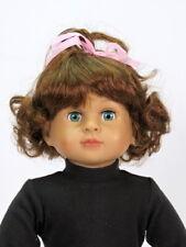 Auburn Wig w/pink bow made for 18'' Doll by American Fashion World
