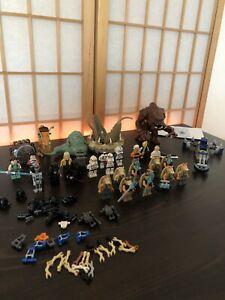 lego star wars sammlung figuren Rancor, Jabba, Gungans Jedi + Clone Trooper