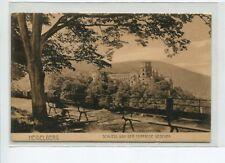 AK Heidelberg Schloss von der Terrasse gesehen Parkbank Aussicht ungelaufen
