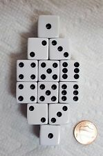DICE SALE! - 16mm OPAQUE WHITE WITH BLACK PIPS! ONE DOZEN!