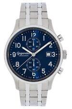 Gigandet SKYSCRAPER Herrenuhr Chronograph Datum Edelstahl Blau Silber G49-004
