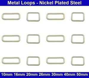 Metal Loops - 10mm, 16mm, 20mm, 26mm, 30mm, 40mm, 50mm - Belt Collar Bag