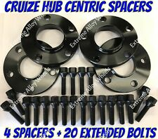 Alloy Wheel Spacers 20mm x 4 Audi A6 A8 Q2 Q3 R8 TT Black Cruize 5x112 57.1
