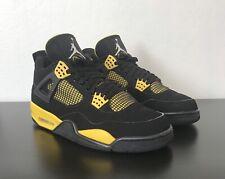 Air Jordan 4 Retro Thunder Black Yellow Size 10