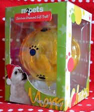 Christmas ORNAMENT Gift Ball for Dogs Puppies NEW Hanging BONE Treats My2Pets