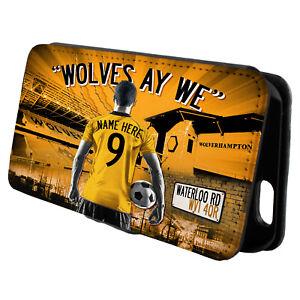 Personalised Wolverhampton iPhone Case Football Flip Phone Cover Mens Gift AF134