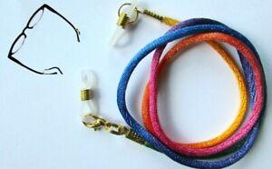 "Rainbow Coloured  Eye / sun Spectacles  lanyard 24"" (61cm)   Nylon Cord"