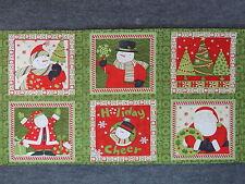 "Ho Ho Ho Christmas Block Quilting Fabric 23"" Panel  #3092"