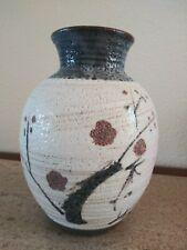 Japanese Ume Plum Blossom SHINO WARE VASE