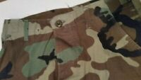US Army Military Woodland Camouflage Combat Hot Weather Trousers BDU Pants Small