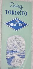 """Vintage Brochure """"Seeing Toronto: The Gray Line Motor Tours 1961 (5 Tours)"""