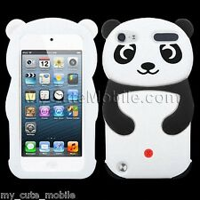 Apple iPod Touch 5th 6th Generation Case - White Panda Silicone Skin Cover Pouch