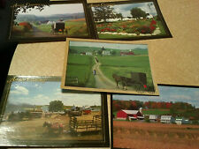A New Set of 5 Amish Post Cards From Holmes County Area Of Ohio