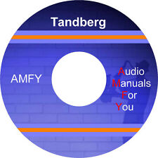 TANDBERG service manuals, owners manuals and schematics on dvd, all files in PDF