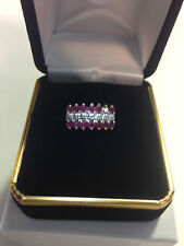 New 10K Gold Diamond and Ruby Ring Size 6