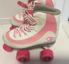 Roller Derby Youth Girls Firestar Skates White Pink Size 13 Jr Kids skate