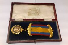 ST MICHAELS LODGE MASONIC MEDAL IN ORIGINAL CASE 1925-1926