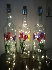 LED Light Bottle - You choose your design - perfect personalised gifts